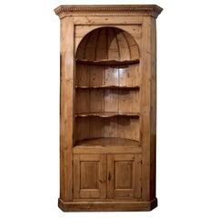 English Pine Corner Cupboard
