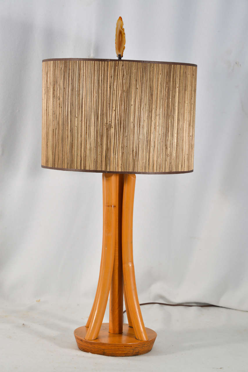 Thonet Style 1950 S Bent Wood Table Lamp At 1stdibs