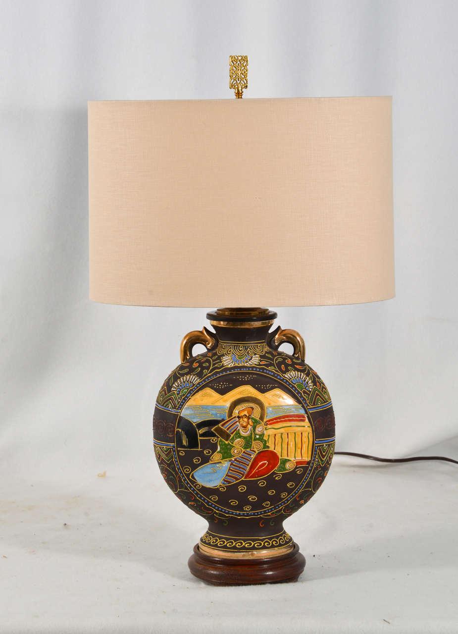 Japanese Satsuma Vase As A Table Lamp At 1stdibs