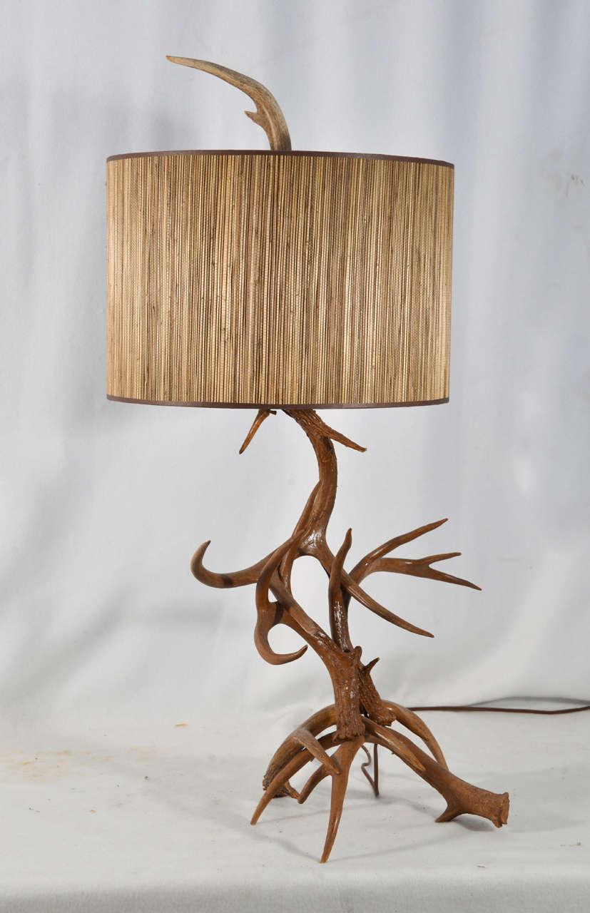 Custom Made Deer Horn Table Lamp 3