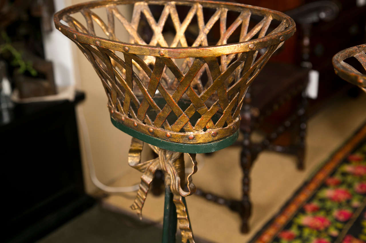 Pair Of Basket Form Jardinieres For Sale At 1stdibs