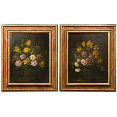 Pair of Italian Floral Still Lifes