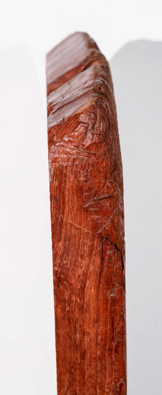 Vintage Hand Hewn Asian Wood Sculpture For Sale 1