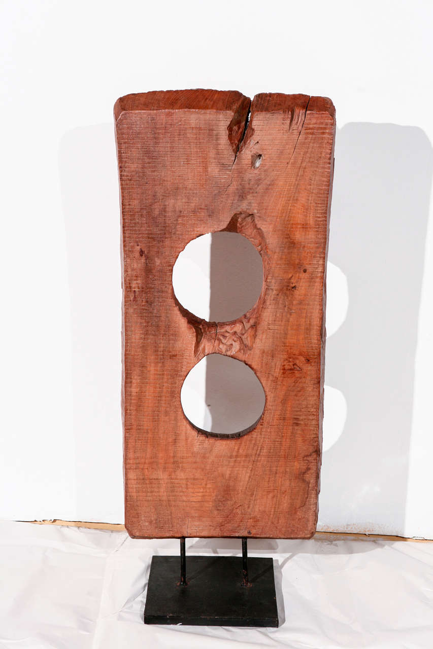 Vintage Hand Hewn Asian Wood Sculpture For Sale 2