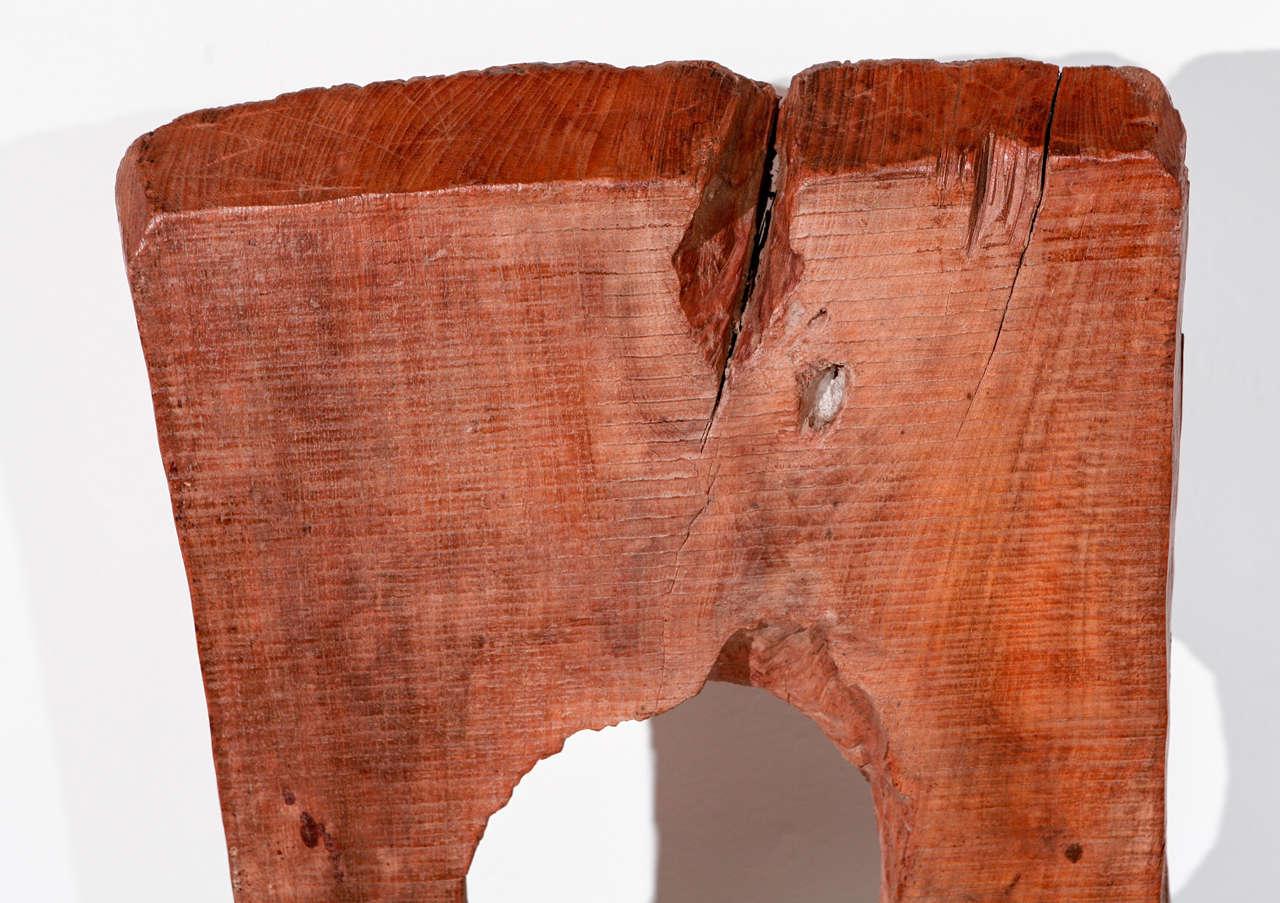 Vintage Hand Hewn Asian Wood Sculpture For Sale 3
