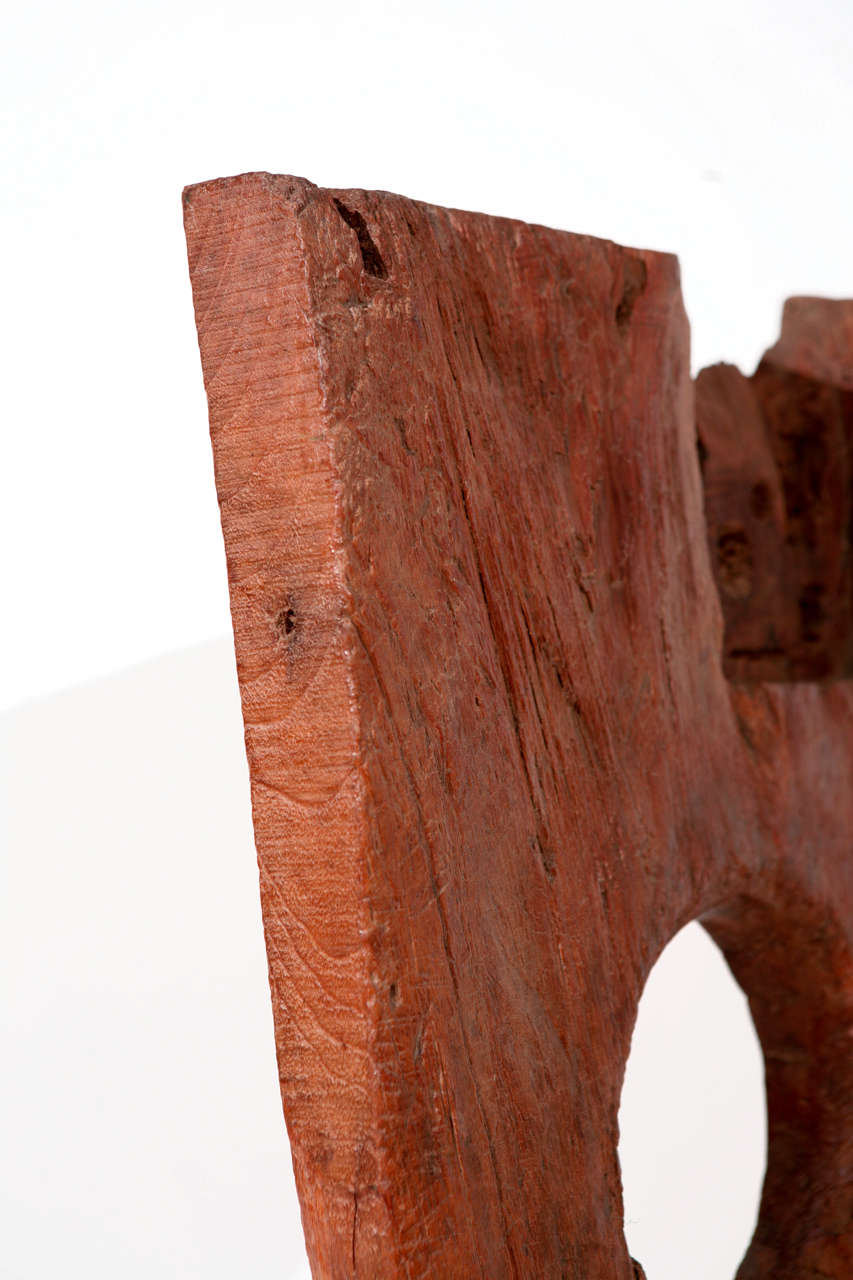 20th Century Vintage Asian Hand Hewn Wood Sculpture For Sale