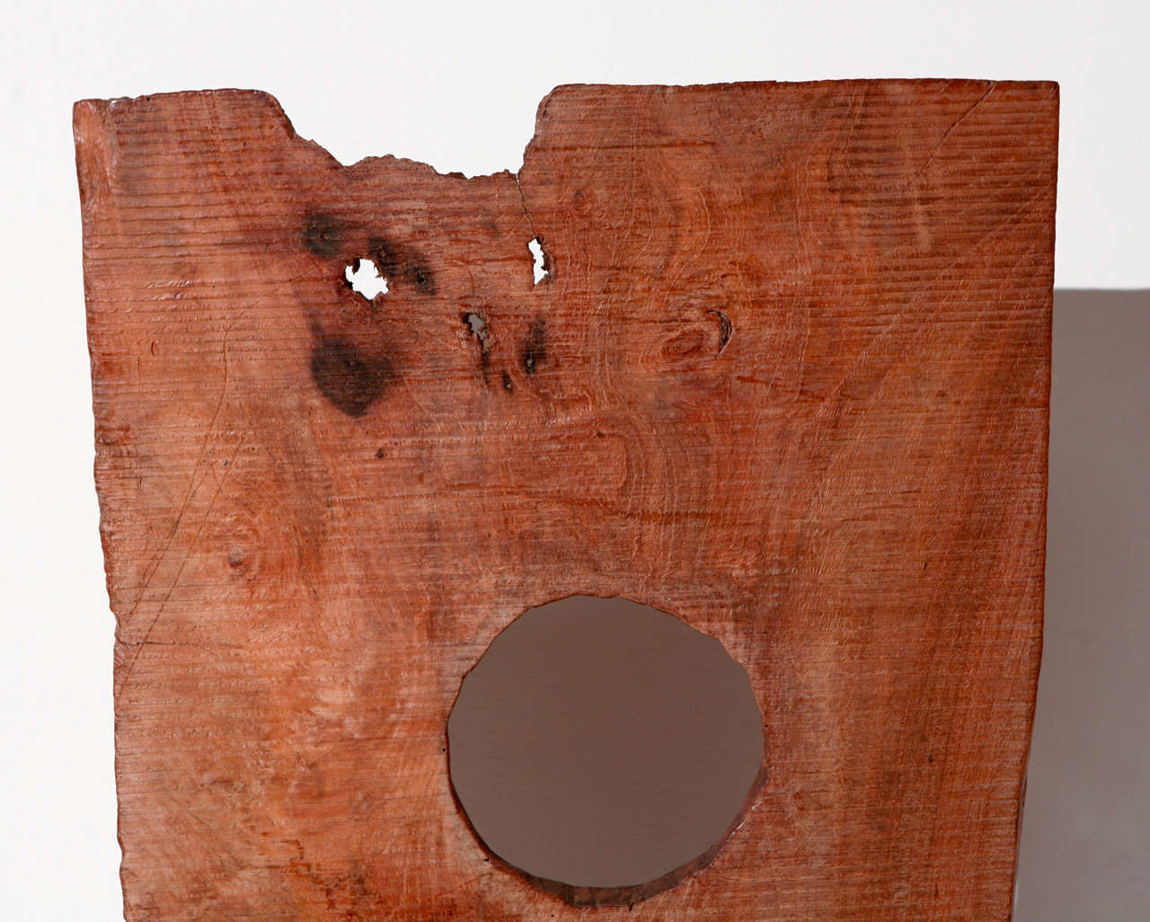 Vintage Asian Hand Hewn Wood Sculpture For Sale 4