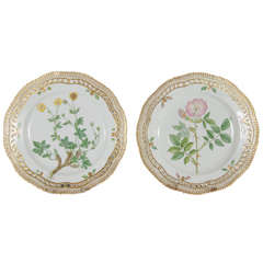 Exquiste  Plates Flora Danica by Royal Copenhagen