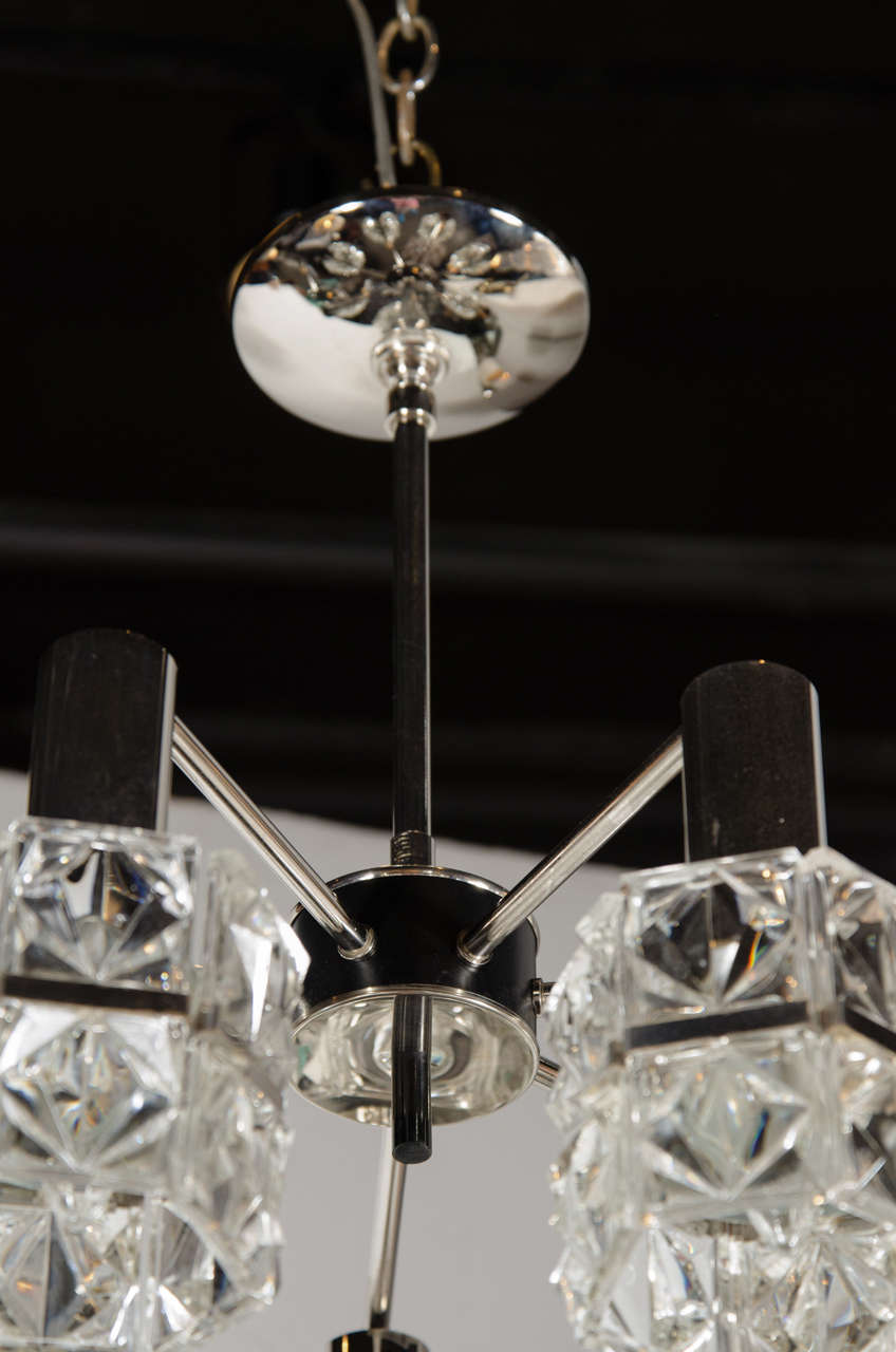 Mid Century Modernist Seven Globe Faceted Crystal