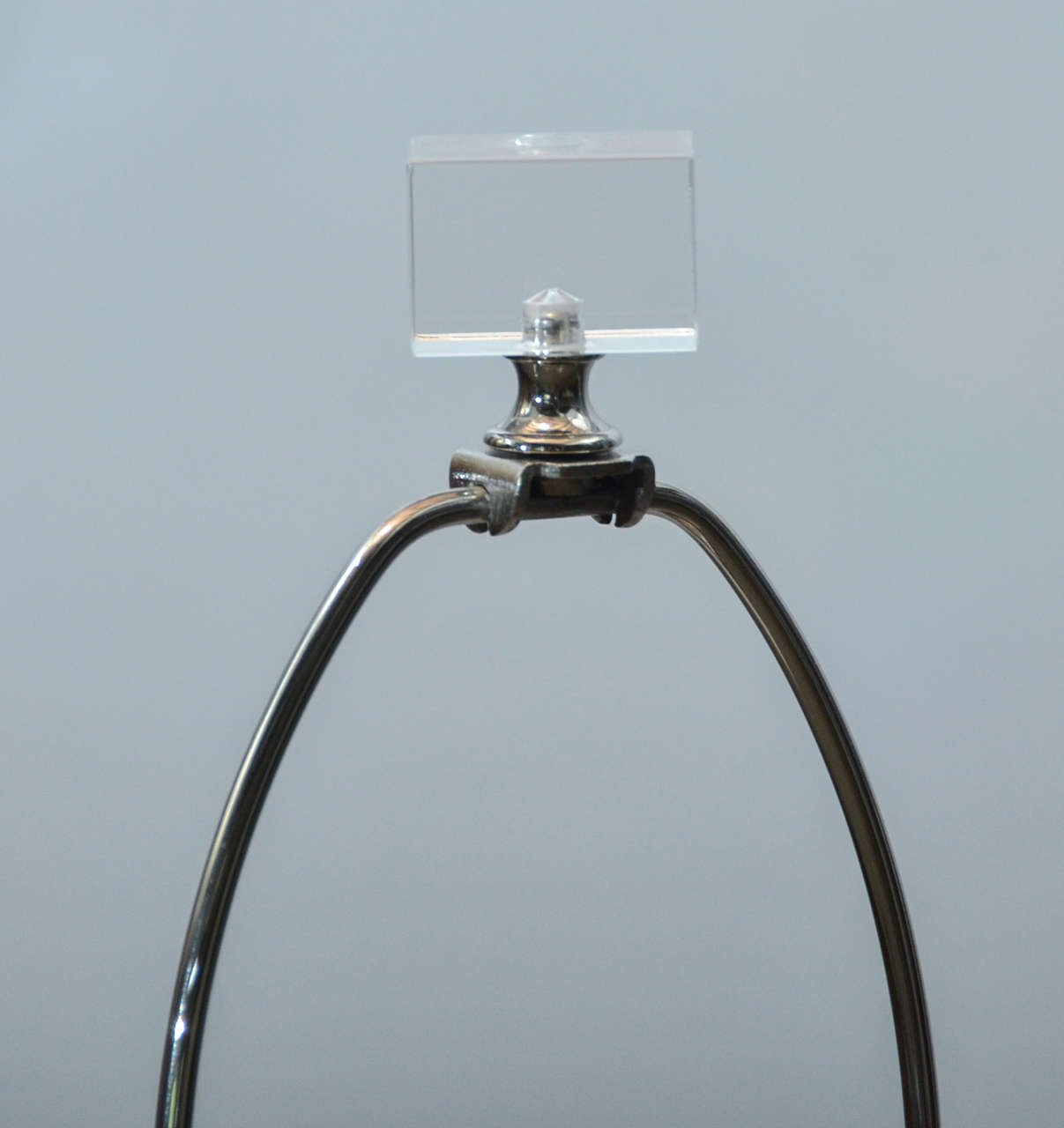 American Lucite Stacked Block Lamp For Sale