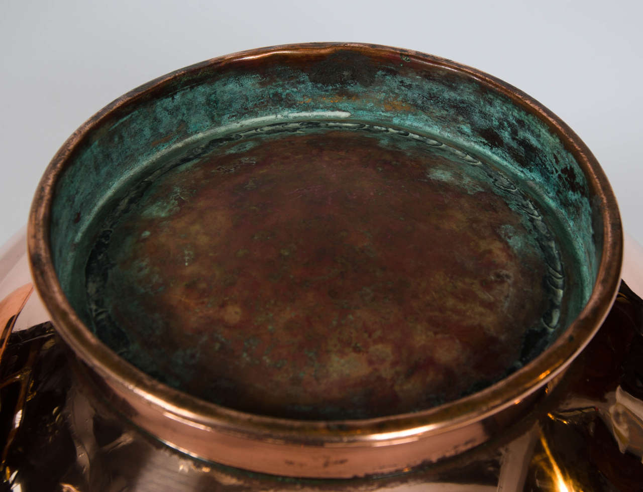 Pair of Early 19th Century Large Copper Bowls 7