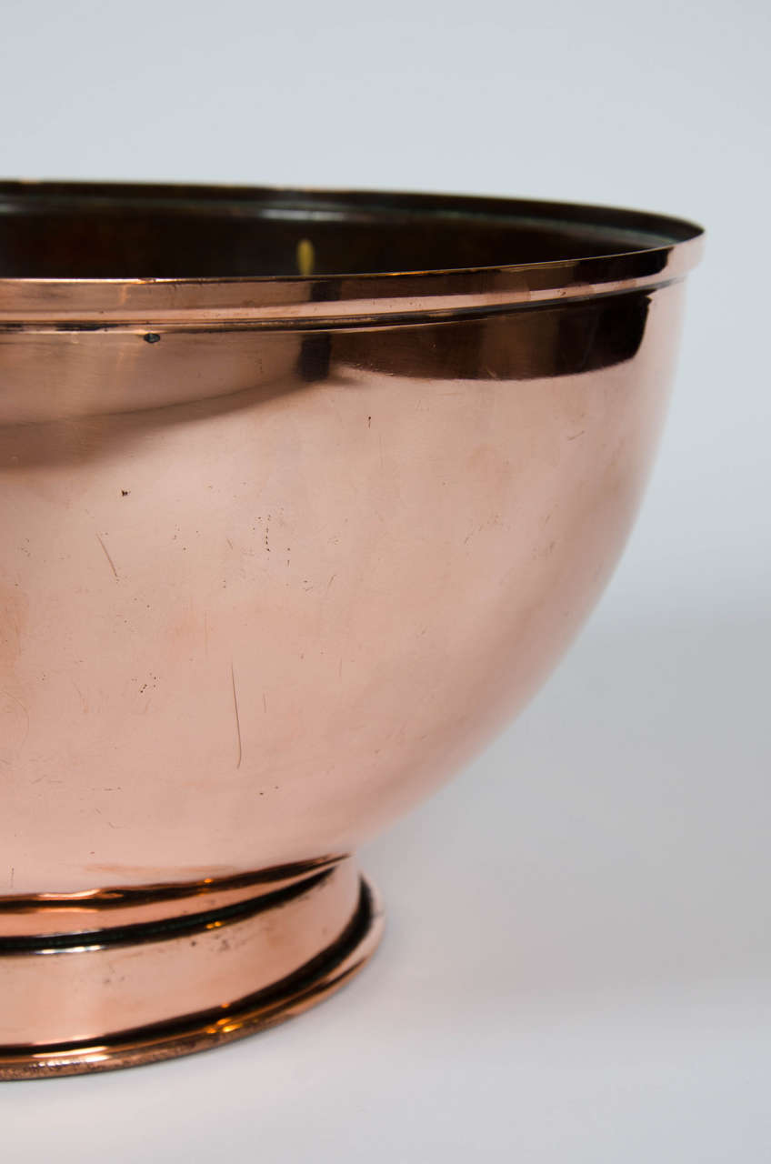 Pair of Early 19th Century Large Copper Bowls 8