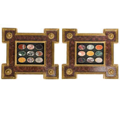 Pair of Framed Lapidarium