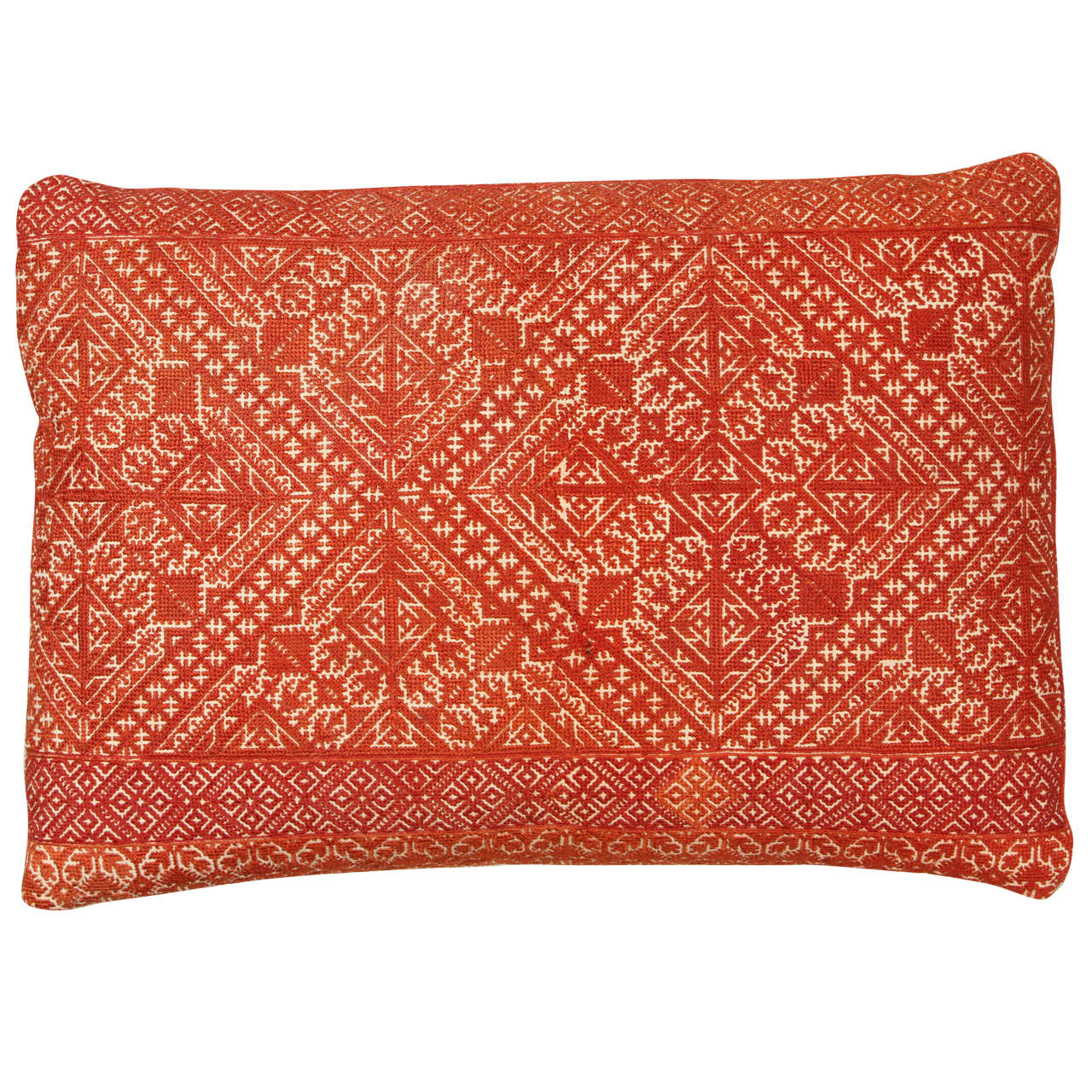 Antique Moroccan Fez Embroidered Pillow At 1stdibs