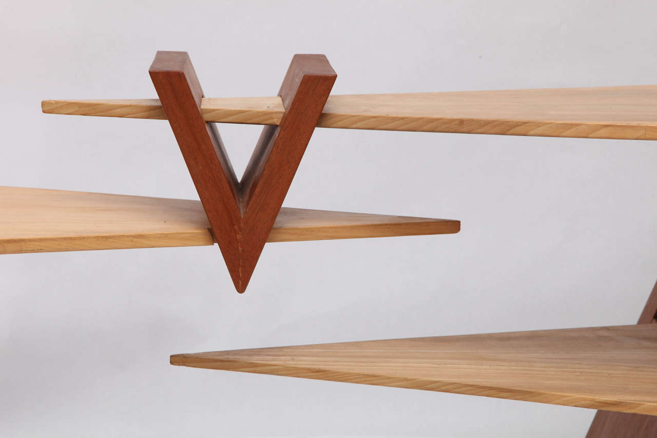 Mid-Century Modern 1970s Constructivist Wood Puzzle Table For Sale