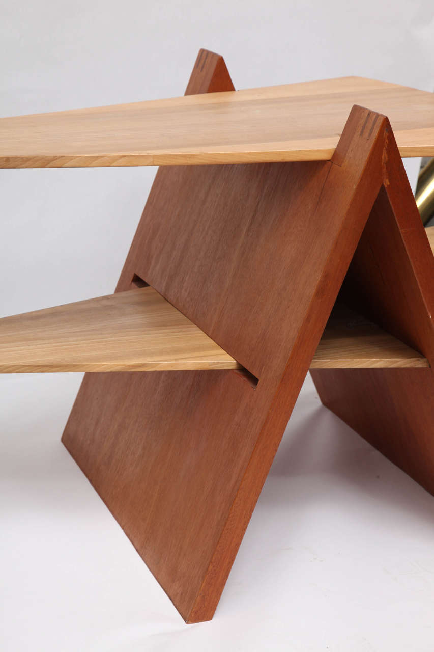 Late 20th Century 1970s Constructivist Wood Puzzle Table For Sale