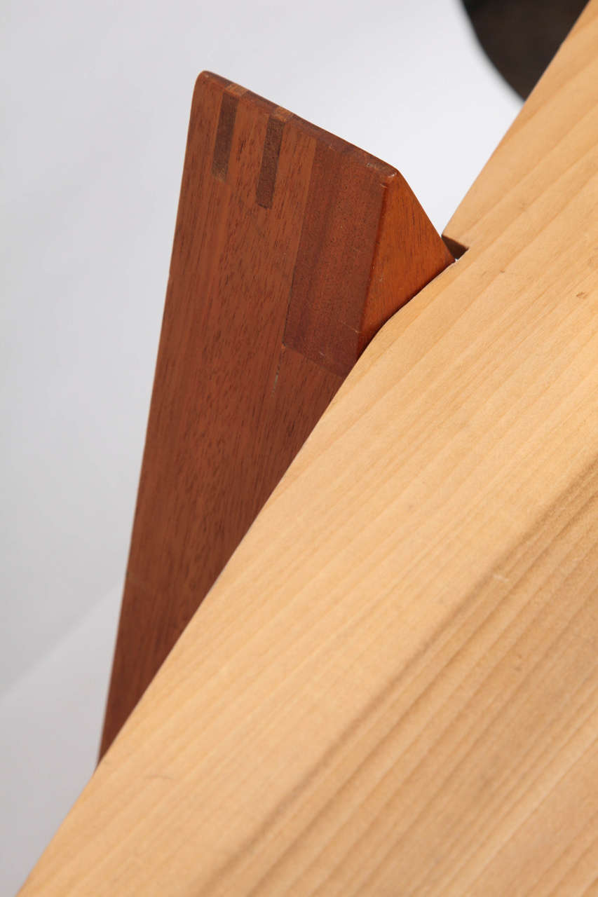 1970s Constructivist Wood Puzzle Table For Sale 1