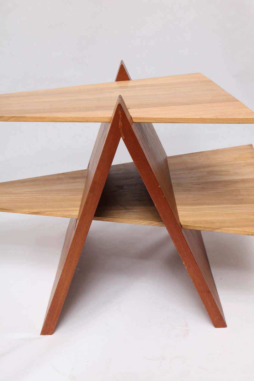1970s Constructivist Wood Puzzle Table For Sale 3