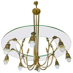 1940s Chandelier by Brusotti