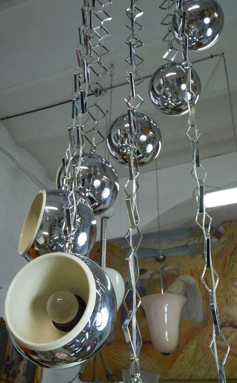 Beautiful 1960s Italian Nine Light Chandelier By Reggiani