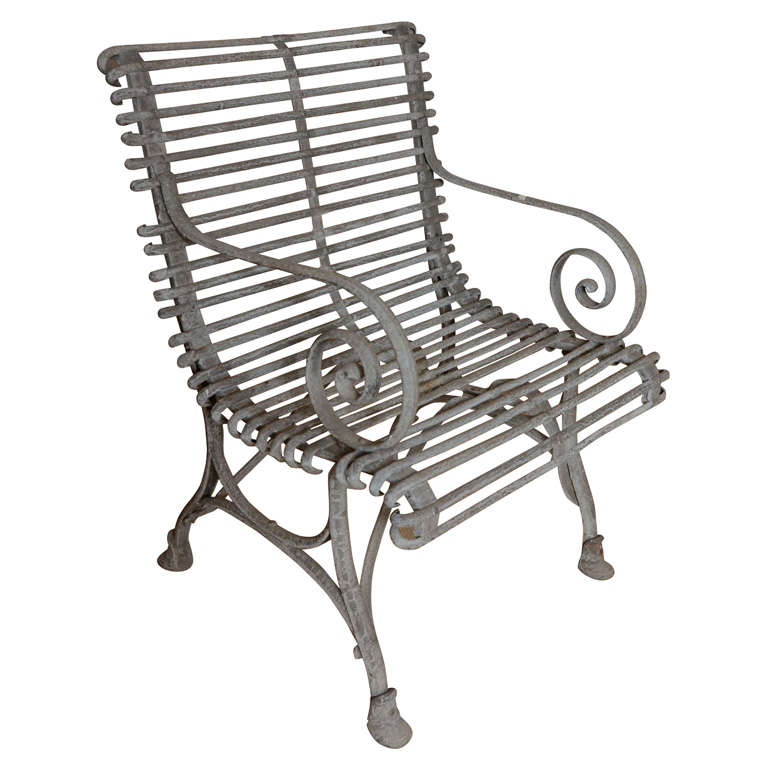 1930 u0026 39 s english painted iron garden chair at 1stdibs