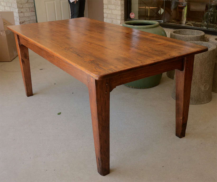 "19th Century English 72"" Pine Farm Dining Table at 1stdibs"