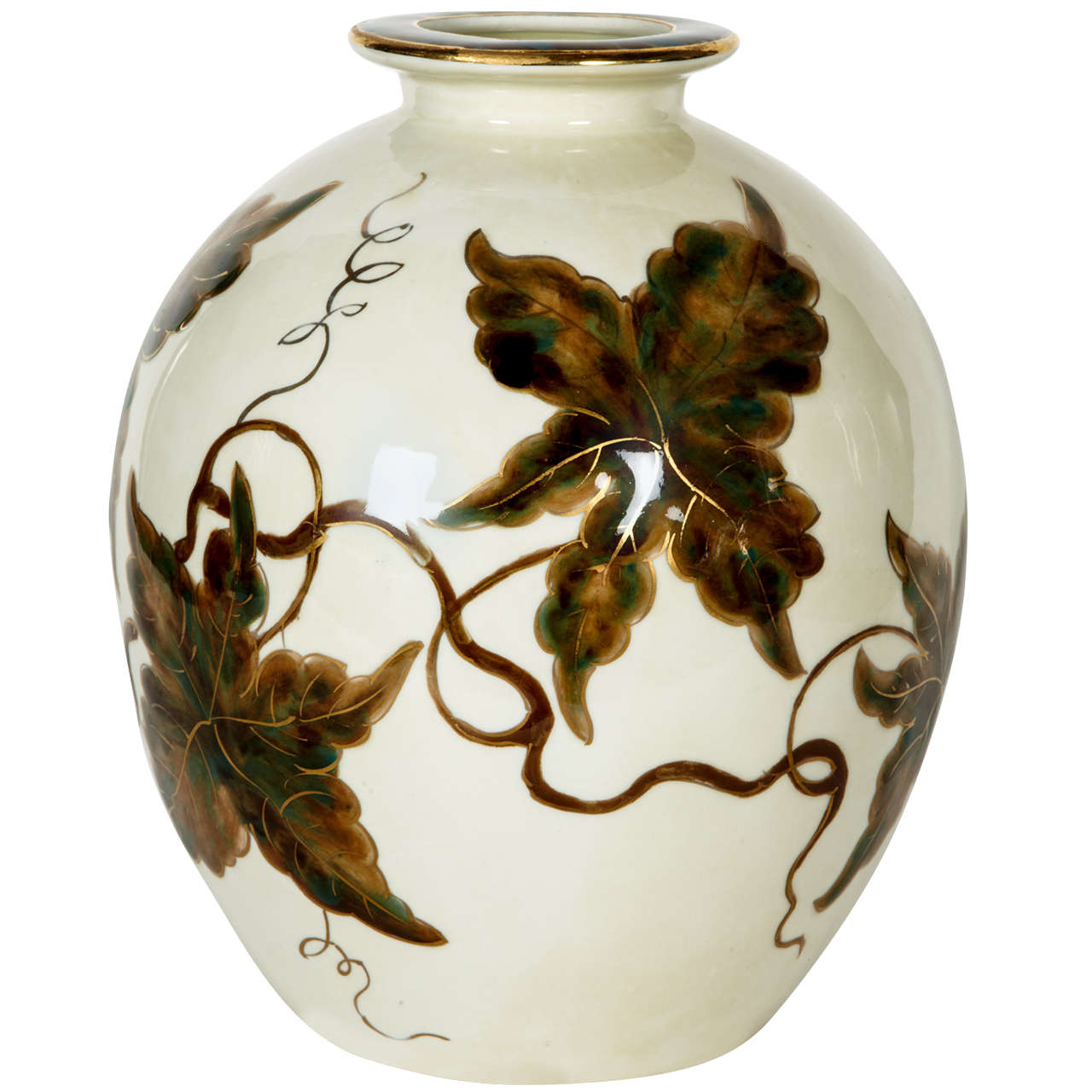Nice Vase in Limoges Porcelain by Camille Tharaud