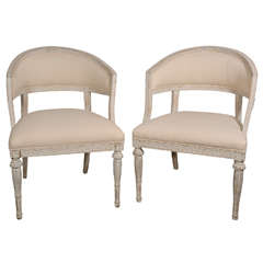 Pair of Classic Gustavian Armchairs