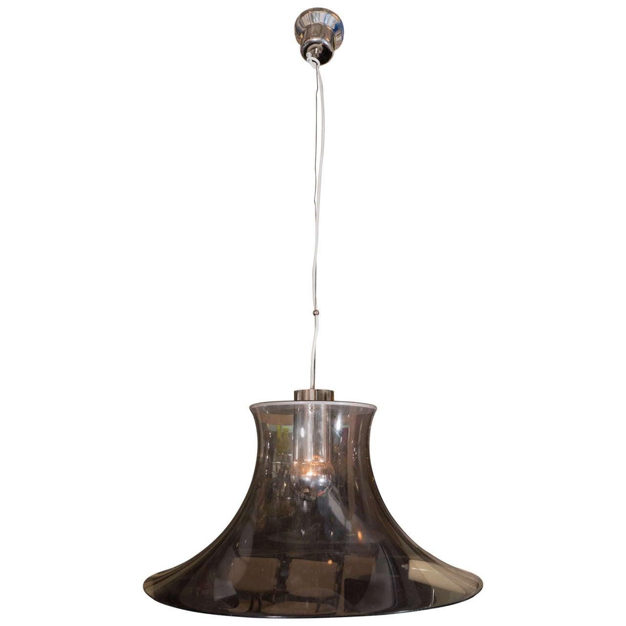Italian 1970s Perspex Pendant Light