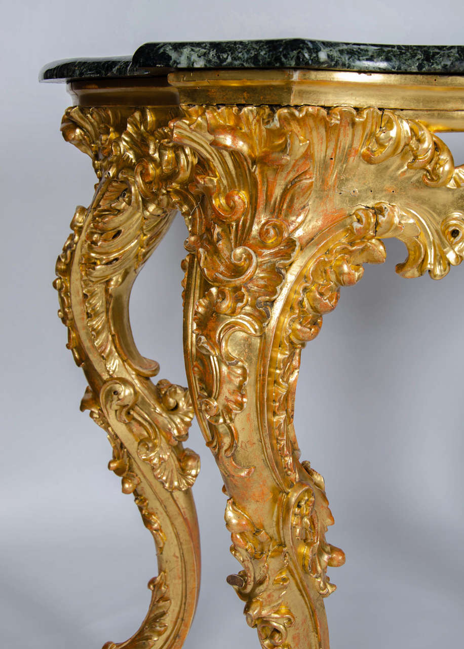 19th Century Rococo Revival Console Table In Excellent Condition For Sale In London, GB