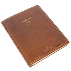 """Photograph Album by Bert C Thayer, """"Tecolote"""", with watercolours by Ed Borein."""