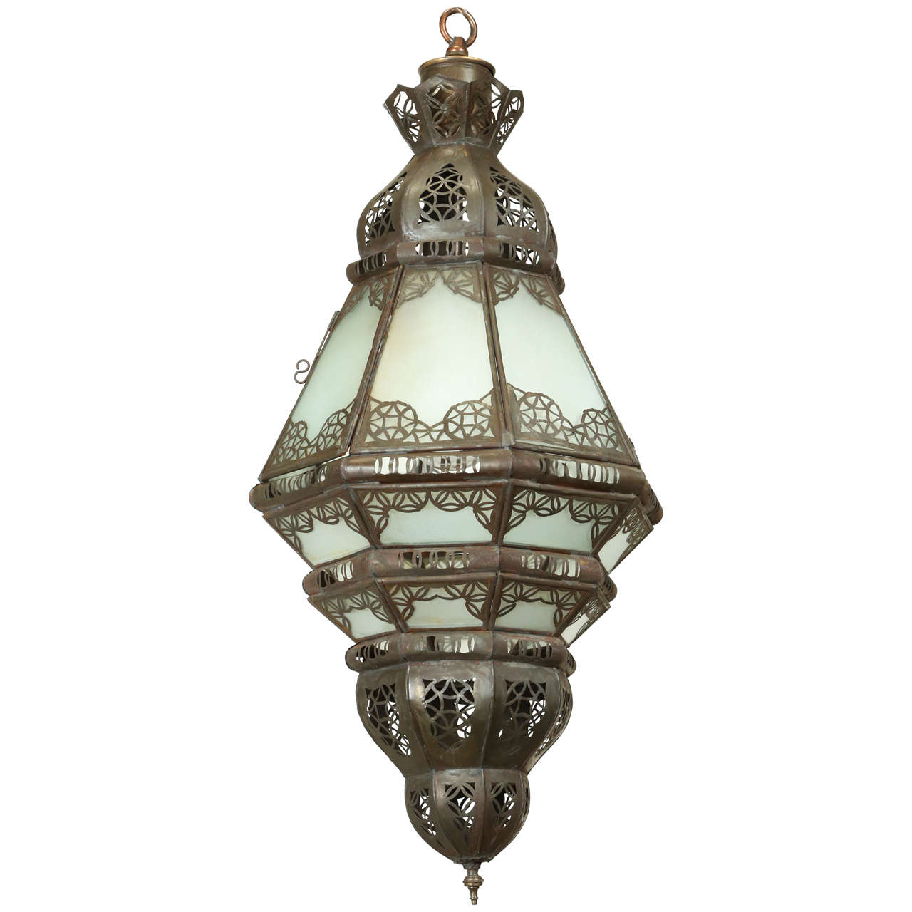 Moroccan Milky Glass Pendant At 1stdibs