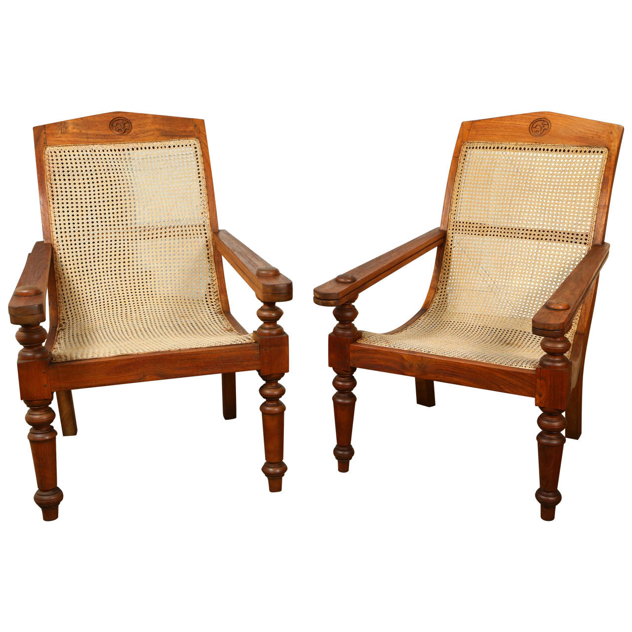Anglo-Indian Plantation Chairs 1 - Anglo-Indian Plantation Chairs At 1stdibs