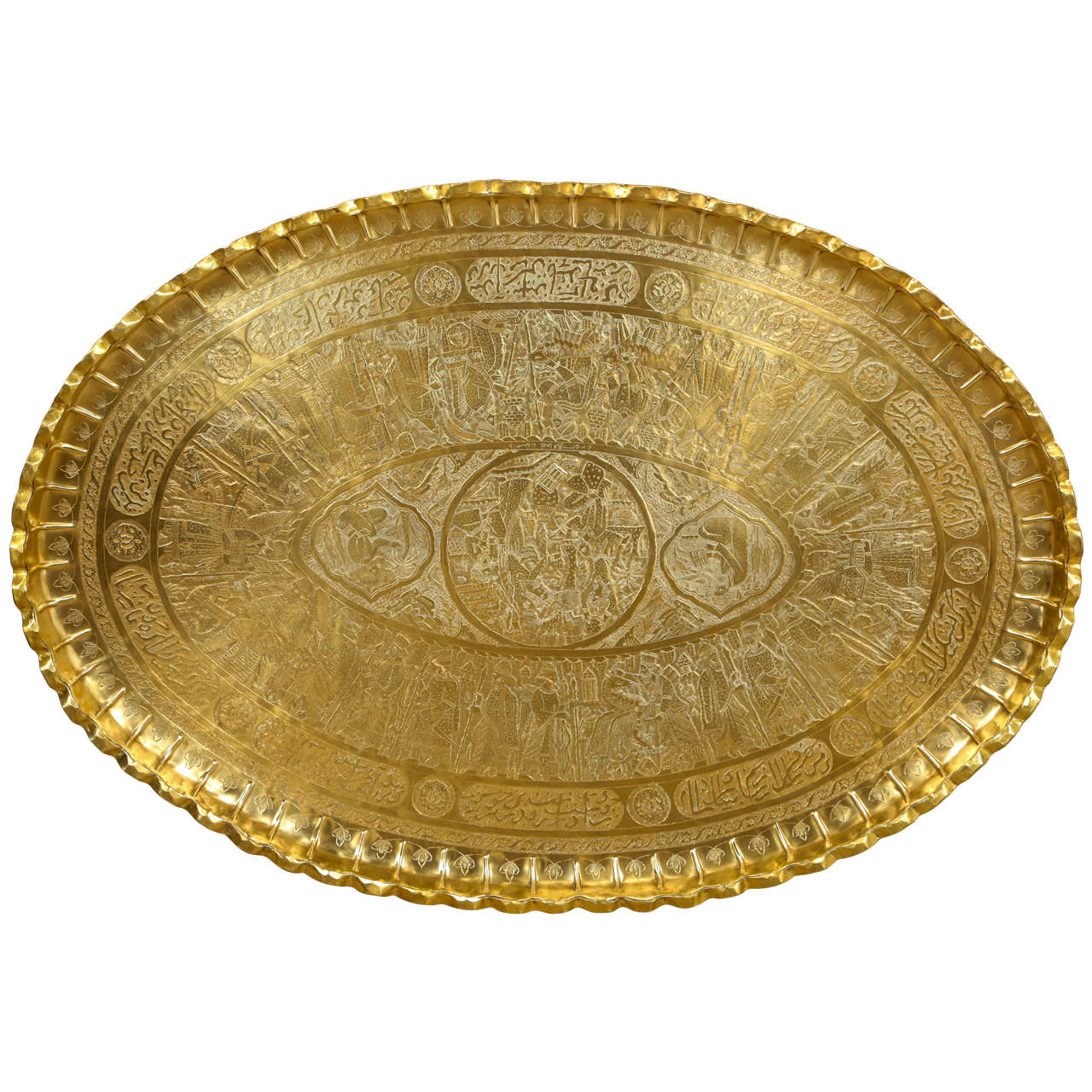 Persian Large Oval Brass Tray at 1stdibs : X from 1stdibs.com size 1280 x 1280 jpeg 215kB