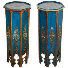 Pair of Moroccan Pedestals Tables