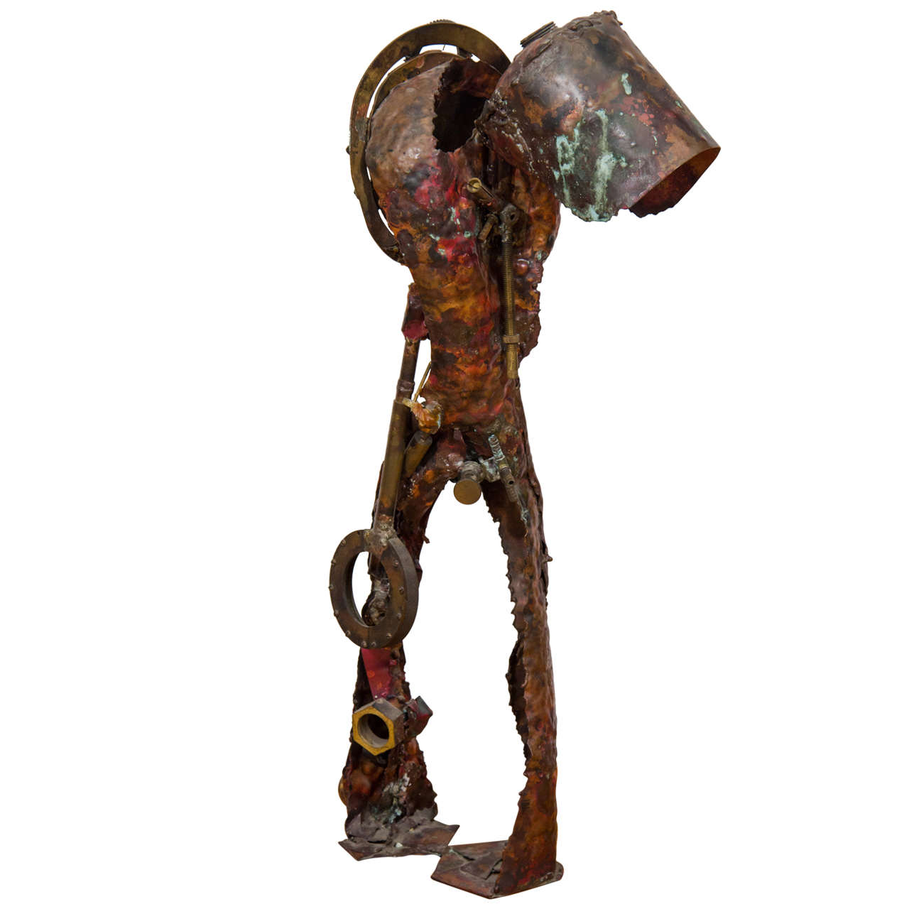 Brutalist Sculpture of a Male Figure For Sale