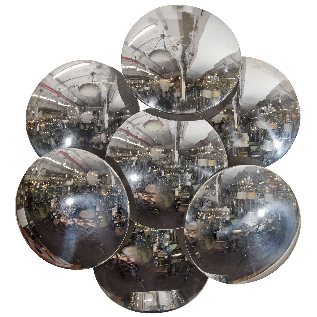 Wall Light Sculpture: Midcentury Chrome, Abstract Reggiani Wall-Mounted Light