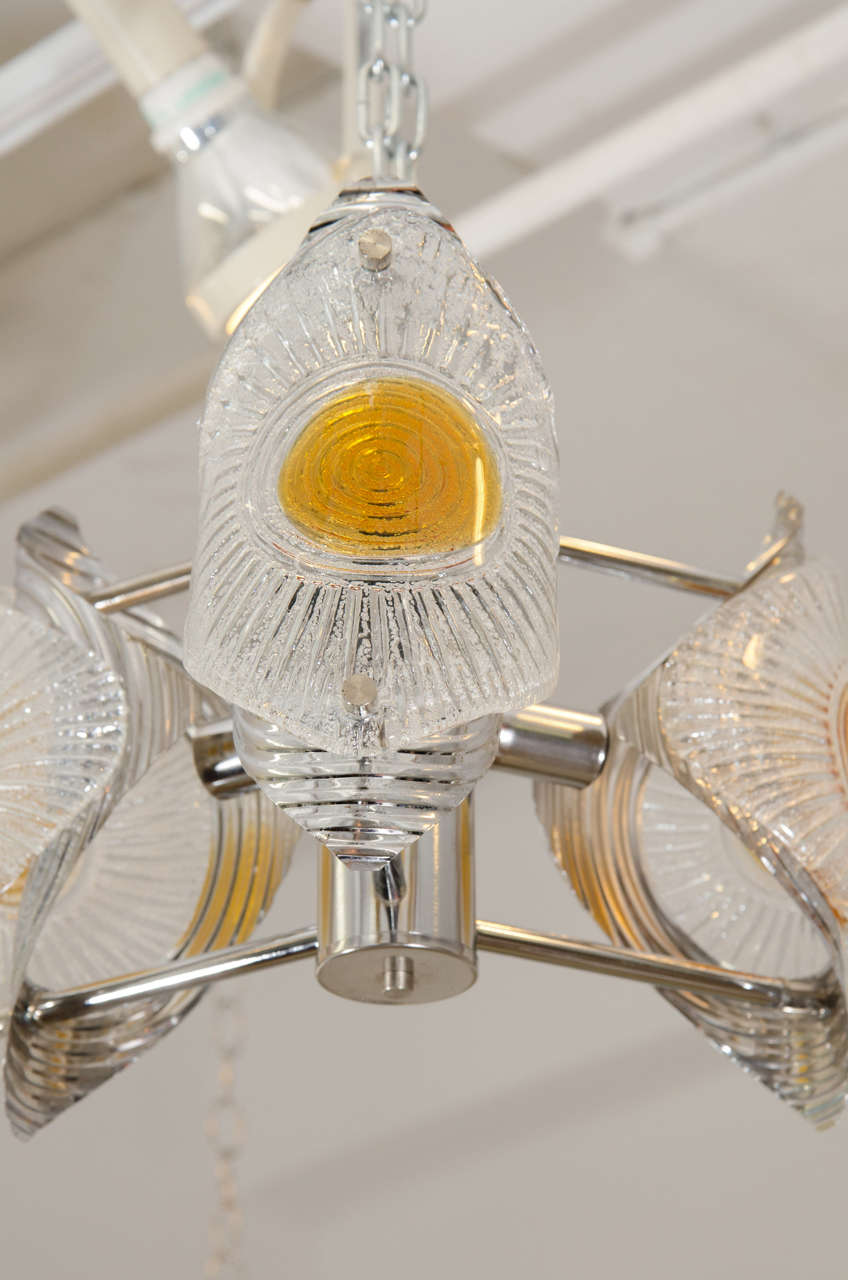 Mid-Century Modern Midcentury Murano Glass Mazzega Chandelier For Sale