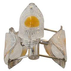 Midcentury Murano Glass Mazzega Chandelier