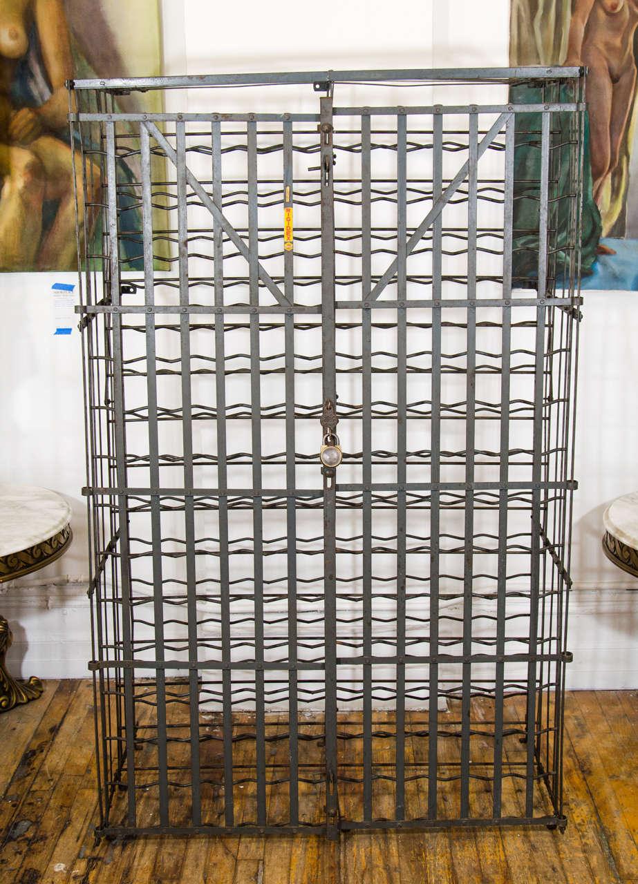 Vintage Rigidex Large Steel Industiral French Wine Rack