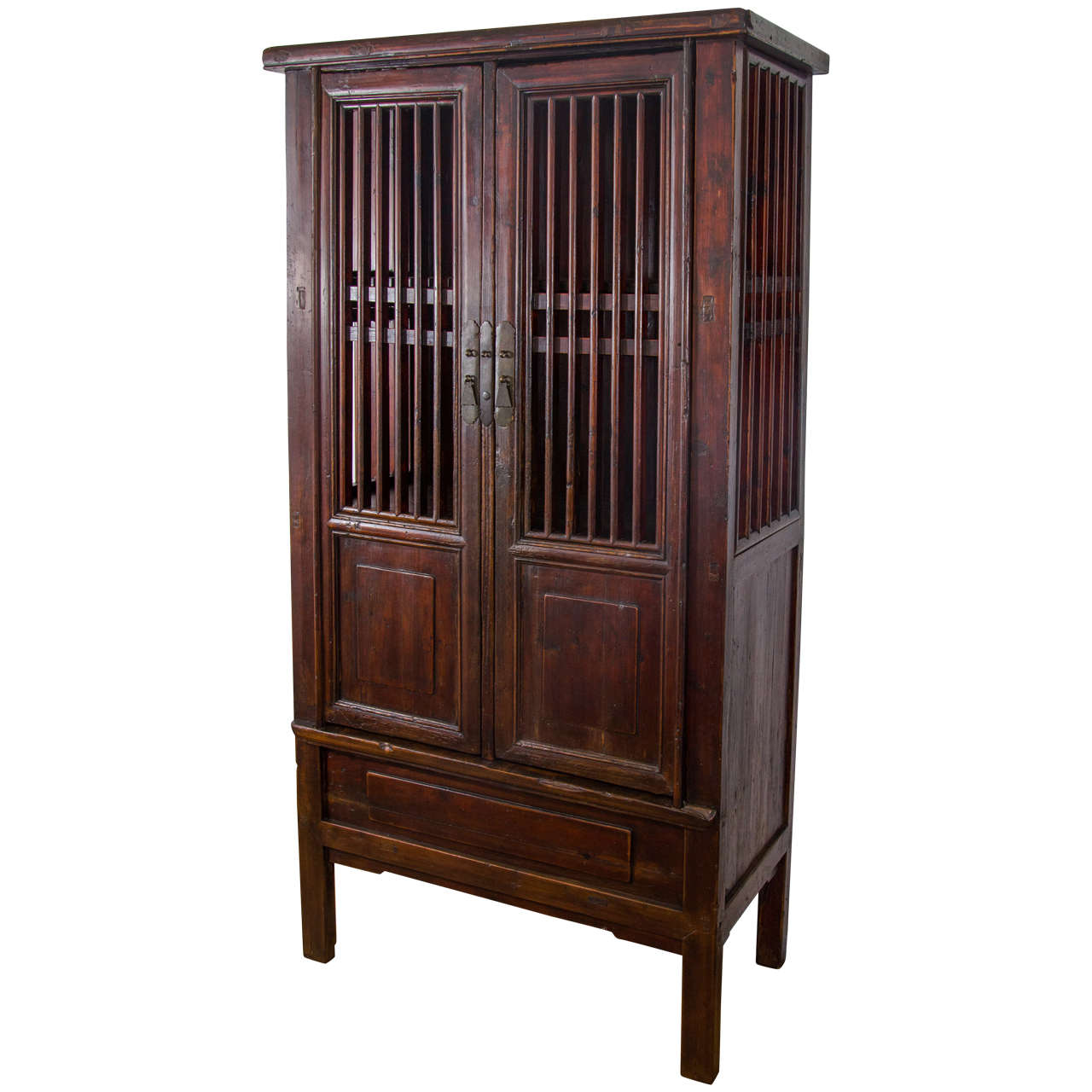19th Century Tall Chinese Fruit or Vegetable Storage Cabinet at ...