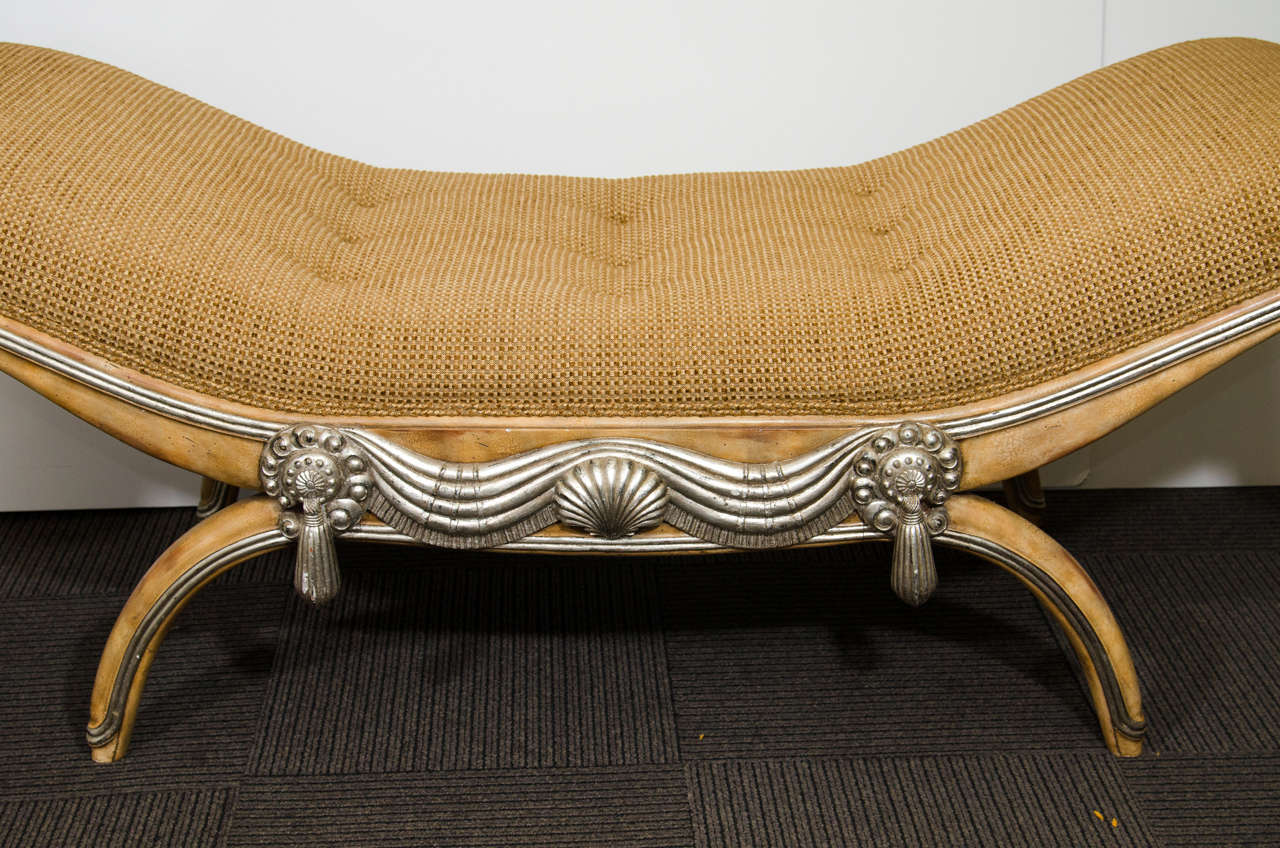 Midcentury Maitland Smith Recamier Or Chaise At 1stdibs