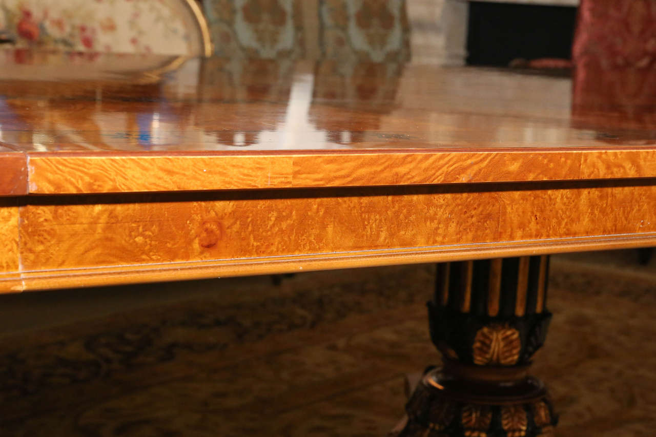Large Triple Pedestal Dining or Conference Table at 1stdibs