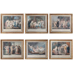 """Les Aventures de Telemache"" Set of Six French Neoclassical Prints"