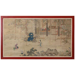 Large Chinese Watercolor Painting