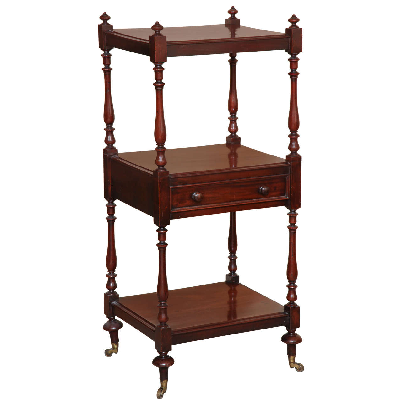 regency mahogany three tier etagere for sale at 1stdibs. Black Bedroom Furniture Sets. Home Design Ideas