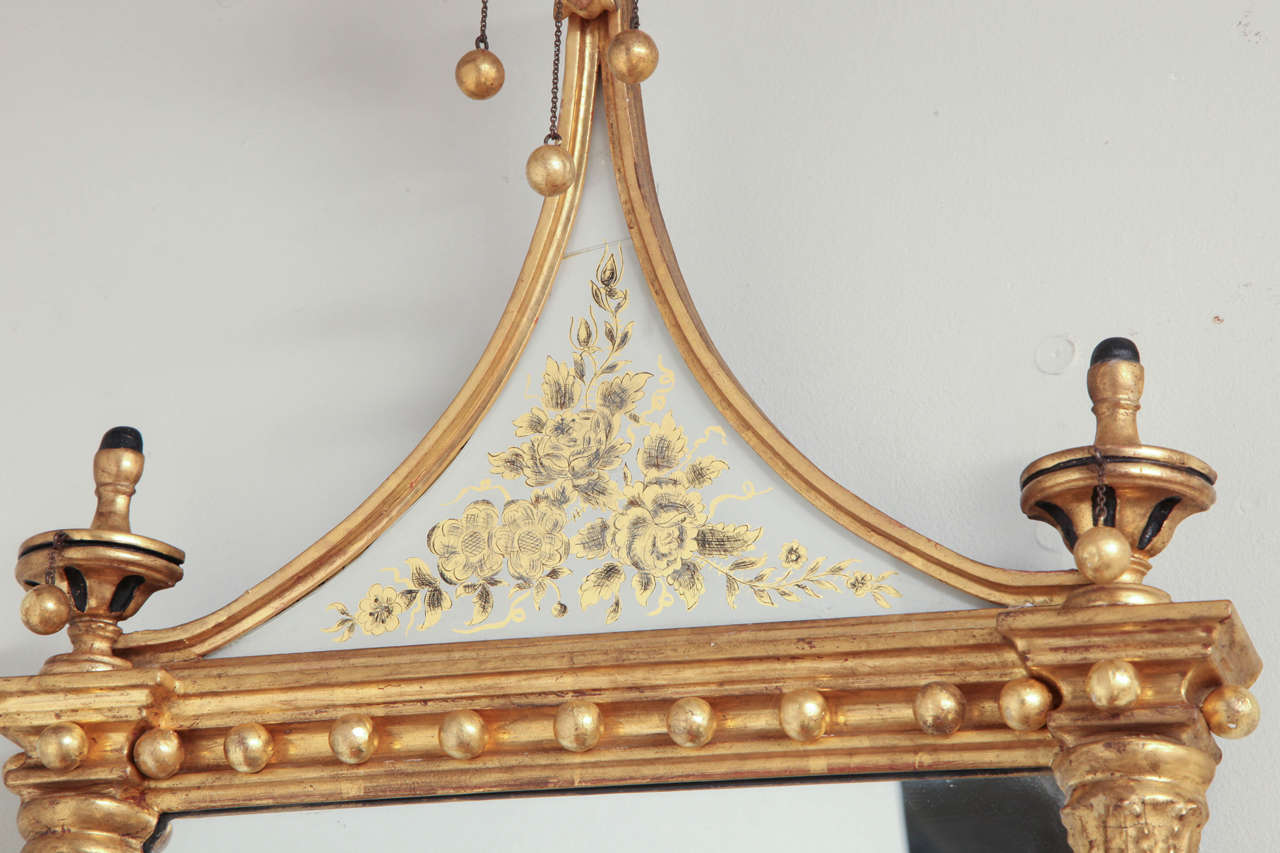 Wood Pair of Federal Pier Mirrors For Sale