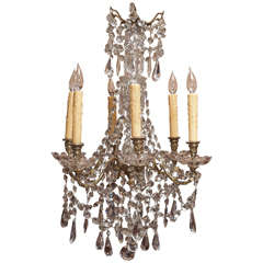 French Restauration Period Crystal Chandelier