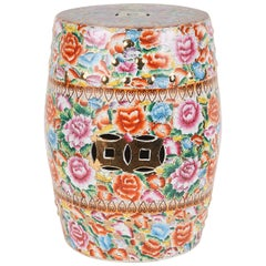 Chinese Ceramic Garden Stool with Lucky Coins For Sale