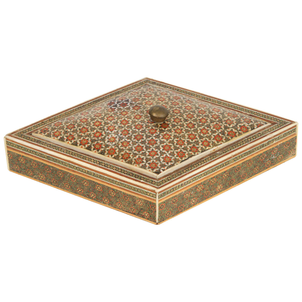 AngloIndian Micro Mosaic Inlaid Jewelry Box at 1stdibs